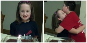 """Katie - Celebrating her 5 year """"brainiversary"""" with chocolate """"brainies."""""""